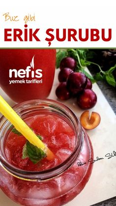 Buz Gibi Erik Şurubu – Nefis Yemek Tarifleri How to Make Ice Syrup Plum Syrup Recipe? Illustrated explanation of Ice Syrup Plum Syrup Recipe and photographs of those who try it are here. Cooking Recipes, Healthy Recipes, Yummy Recipes, Homemade Beauty Products, Medicinal Plants, Coffee Drinks, Lemonade, Herbalism, Alcoholic Drinks