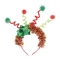 Christmas Tacky Tiara Headband - OrientalTrading.com