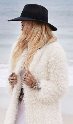 Faux fur, for cool summer nights. #faux #chic #jacket