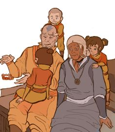 Grandparents, sad to say that this could never happen because aang would have already been dead. TEARBENDING!