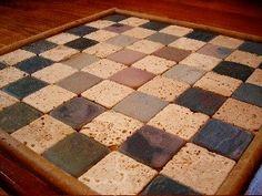Tile DIY Chess Board stone-2