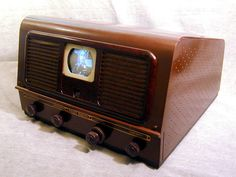 Tvs, Radios, Art Deco, Vintage Television, Antique Radio, Tv Sets, Monitor, Vintage Tv, Old Tv