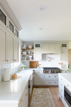 White poured countertop - slight off color cabinets