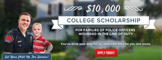 Brick House Security $10,000 Scholarship to Police Officers & Their Families (who has been wounded or disabled in the line of duty). #Scholarships