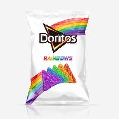 Rainbows and unicorns! food and drinks Crazy New Doritos + Unicorn Gin = Your New Favorite WTF Food Combo Doritos Rainbow, Rainbow Food, Rainbow Things, Rainbow Stuff, Unicorn Tears Gin, Cute Food, Yummy Food, Kreative Desserts, Unicorn Foods