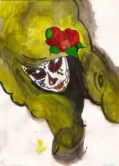 Mexican Death Mask by Peter Vazquez, via Behance