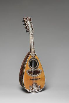 *Mandolin Antonius Vinaccia (Italian, Naples active Naples) Date: 1781 Mandoline, Sound Of Music, Kinds Of Music, World Music, Saxophone, Classical Music, Music Stuff, Metropolitan Museum, Instrumental