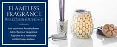 Not sure about having candles burning but would still love the fragrance. Warmers, Smartscent sticks & holders.