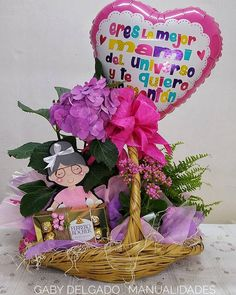 Jar Crafts, Flower Centerpieces, Happy Mothers Day, Snow Globes, Balloons, Christmas Ornaments, Holiday Decor, Birthday, Flowers