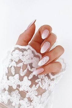 French ombre lace bridal nails French ombre lace bridal nails Related posts: 41 of the Most Beautiful French Ombre Nails French Nails glitzern am besten 5 FRENCH NAILS Wedding Manicure, Wedding Nails For Bride, Wedding Nails Design, Wedding Nails Art, Lace Nail Design, Natural Wedding Nails, Wedding Makeup, Bride Makeup, Weddig Nails