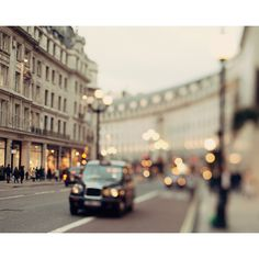 London Photograph, Regent Street, Muted Colors, England, Car Lights,... ❤ liked on Polyvore