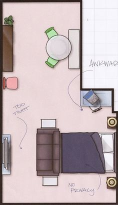 Studio Apartment: placement is everything. *Not just for apartments! Important tips for any home.