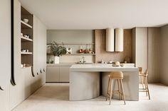 Harmony and design: una cocina extremadamente elegante Merci Store, Interior Design Kitchen, Kitchen Decor, Kitchen Modern, Kennedy Nolan, Nature Green, Casa Loft, Layout Design, Family Kitchen