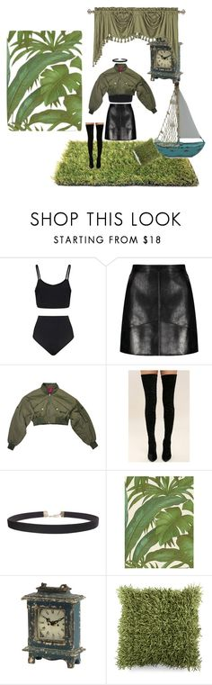 """""""Sin título #858"""" by agusvmicheletto7 ❤ liked on Polyvore featuring Cape Robbin, Humble Chic, Versace, Surya and United Curtain"""