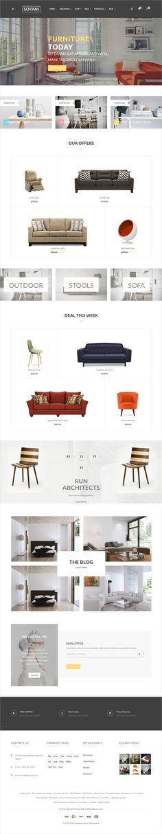 Sofani is clean and modern design responsive #HTML5 template for stunning #furniture store #eCommerce website with 7+ homepage layouts download now > https://themeforest.net/item/sofani-furniture-store-html-template/19892365?ref=Datasata