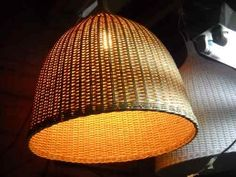 lámparas colgantes de esterilla de mimbre $1100