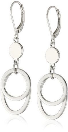 ELLE Jewelry Sterling Silver Lever Back Earrings ELLE Jewelry. $140.00. Made in China