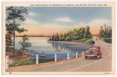 Lake Hamilton vintage view, Hot Springs National Park, Arkansas