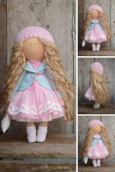 Fabric doll handmade Tilda doll Decor doll Collectable doll Soft doll Cloth doll magic by Master Margarita Hilko