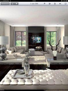 47 Airy and Cozy Living Room Designs Ideas > Fieltro. Home And Living, Interior Design, House Interior, Luxury Living Room, Home, Interior, Cozy Living Room Design, Luxury Living, Dream Living Rooms
