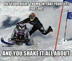 Snowmobile hokey pokey