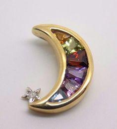 Crescent-Moon-shaped-Pendant-w-Multi-Gemstones-amp-Diamond-accent-10k-Solid-Gold