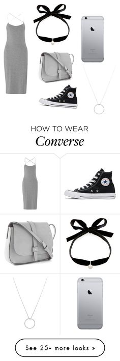 """Grey"" by thelittleprincesse on Polyvore featuring T By Alexander Wang, Mateo, Converse, Gap and Roberto Coin"