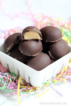 These delicious Reese's homemade chocolate Peanut Butter eggs are so much better than store-bought and just the right size for the Easter bunny to nibble.