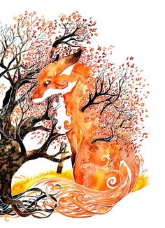 Forever Autumn giclee PRINT of original watercolor by petesandker