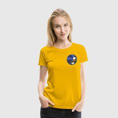 Landskab, sø & måne - Dame premium T-shirt