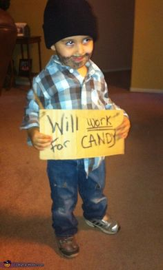 Lil Panhandler - Halloween Costume Ideas for Boys