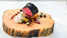 Data processor Aaron Tan calls himself a stay-at-home chef, who cooks mostly for his wife. If this sous vide venison rolled in leek ash tastes as good as it looks he should stay home more often.