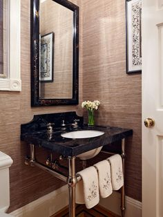 Traditional Bathroom Powder Rooms Design, Pictures, Remodel, Decor and Ideas - page 2