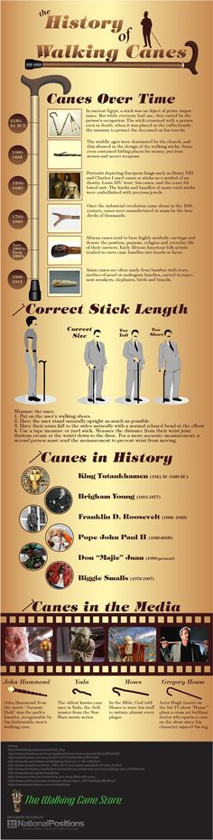 Walking Canes! Sweet infographic :) #infografía