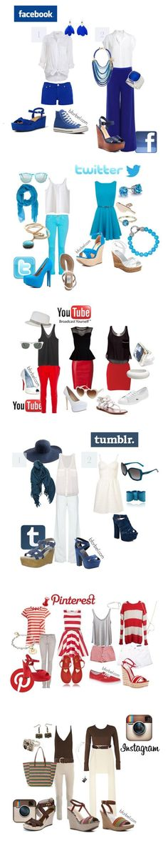 """Social Network - Facebook; Twitter; YouTube; Tumblr; Pinterest; Instagram"" • Casual Cosplay"