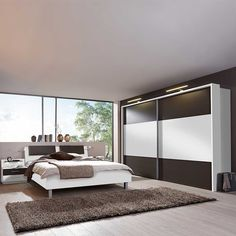 Schlafzimmer Set Rajada in Weiß Braun