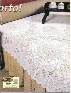 Serwety filetowe i inne - - Picasa Web Albums Crochet Bedspread, Crochet Tablecloth, Crochet Doilies, Filet Crochet Charts, Shabby Chic Crafts, Manta Crochet, Crochet Home, Thread Crochet, Crochet Accessories