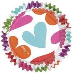 Cápsulas para cupcakes Corazones - El Dulce de Pau #capsulascupcakes #moldesmagdalenas #moldesparacupcakes #wilton