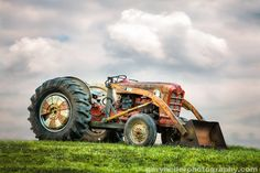 Old Ford PowerMaster Tractor parked on a by garyhellerphotograph, $29.00
