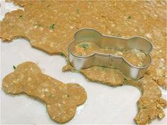 :) Homemade Doggie Biscuits-hard to judge how good they are when the dog eats rocks!