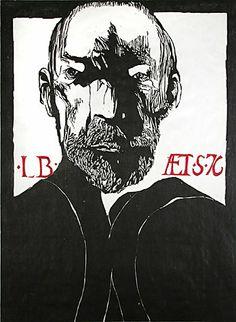 Self portrait / Leonard Baskin-A life-long favorite. I was lucky to have Jessie Loomis as a high school art teacher-Pamela