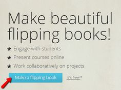 FlipSnack (free site to make flipping books) School Librarian, Digital Storytelling, Web 2, Project Based Learning, Get Excited, Geek Out, Online Work, Online Courses, Flipping