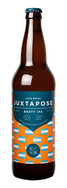 JUXTAPOSE WILD IPA 50 IBUs At the heart of this distinctive West Coast IPA stands the juxtaposition of ripe tropical fruit esters and Wild Yeast funk. Moderately bitter and gracefully balanced. Where orchards meet pastures. Brett Beer, Session Ale, Beer Company, Beer Fest, Beer Brands, Beer Packaging, Branding, Hot Sauce Bottles, Ale