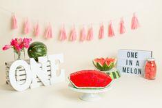 Watermelon Birthday Parties, Birthday Snacks, First Birthday Party Themes, 1st Birthday Cake Smash, First Birthday Decorations, Baby Shower Decorations For Boys, Baby First Birthday, Boy Birthday Parties, Watermelon Pictures