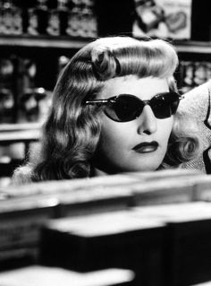 Barbara Stanwyck in Double Indemnity, 1944. http://herterblue.tumblr.com/