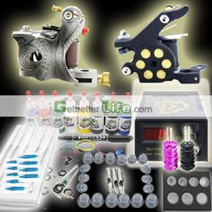 Tattoo Kits Cheap for Sale -Cheap Tattoo kits(1 Gun 1 tubes 1 Grip/ 7 Ink) Offered with wholesale price, US$37.5