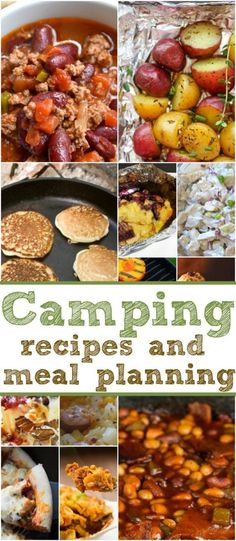 Easy camping recipes and meal planning printable to help you plan what to eat when you're camping! Lots to choose from and so helpful using just a campfire.
