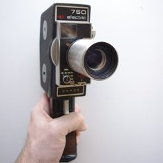 Wards 750 electric 8mm camera - movie camera - 8mm Camera by ThisCharmingManCave on Etsy  https://www.etsy.com/listing/290753357/wards-750-electric-8mm-camera-movie