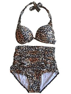 SexyStylish Womens Sexy High Waist Bikini Sets Sexy Leopard Swimsuit >>> You can get additional details at the image link.  This link participates in Amazon Service LLC Associates Program, a program designed to let participant earn advertising fees by advertising and linking to Amazon.com.