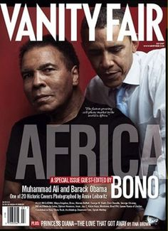 The cover of the July 2007 issue featured legendary boxer Muhammad Ali and then-senator Barack Obama. The cover of the July 2007 issue featured legendary boxer Muhammad Ali and then-senator Barack Obama. Black Presidents, Greatest Presidents, American Presidents, Michelle Obama, First Black President, Mr President, Joe Biden, Durham, Barack Obama Family